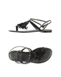 Stuart Weitzman | Gray Thong Sandal | Lyst