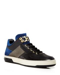 Ferragamo - Black Monroe Double Gancini Sneakers for Men - Lyst
