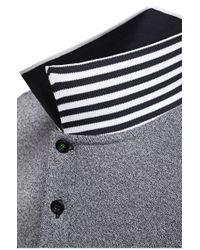 BOSS Green - Black 'pleesy' | Slim Fit, Stretch Cotton Mesh Polo for Men - Lyst