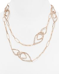 Alexis Bittar | Metallic Orbiting Crystal Station Necklace, 42"