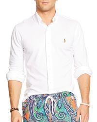Ralph Lauren - White Polo Oxford Shirt - Slim Fit for Men - Lyst
