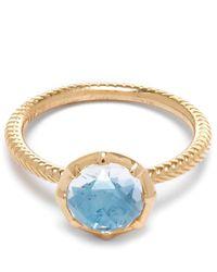 Larkspur & Hawk | Gold Bella Blue Quartz Stacking Ring | Lyst