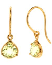 Dinny Hall - Green Gold Vermeil Lemon Quartz Trillion Sheba Drop Earrings - Lyst