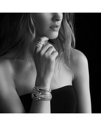 David Yurman | Metallic Labyrinth Triple-loop Cuff With Diamonds And Gold | Lyst