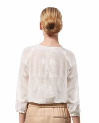 Veronica Beard | White Embroidered Boho Blouse | Lyst