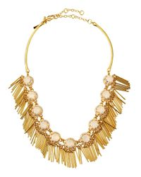 Lele Sadoughi | Brown Crystal Fringe Necklace | Lyst