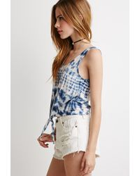 Forever 21 - Blue Tie-dyed Tank - Lyst