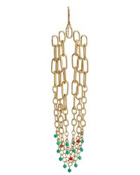 Aurelie Bidermann | Metallic Sioux Gold-plated Pendant Earrings | Lyst