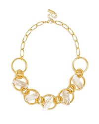 BaubleBar - Metallic 'thea' Collar Necklace - Lyst