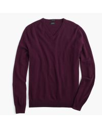 J.Crew | Purple Slim Italian Cashmere V-neck Sweater for Men | Lyst