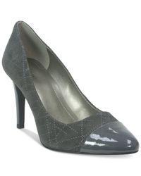 Tahari | Gray Ryanna Pumps | Lyst
