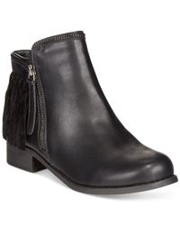 Wanted | Black Abilene Fringe Ankle Booties | Lyst