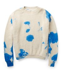 The Elder Statesman | White Dip-Dyed Cashmere Sweater for Men | Lyst
