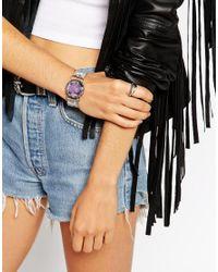 ASOS | Metallic Cut Stone Cuff Bracelet | Lyst