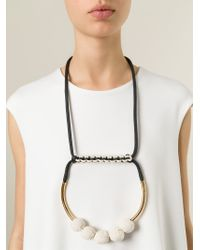 Marni - Black Round Pendant Necklace - Lyst