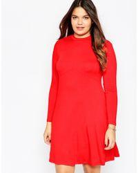 ASOS - Red Bow Back Babydoll Dress - Lyst