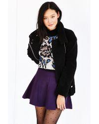 Kimchi Blue - Purple Flared Sweater Skirt - Lyst