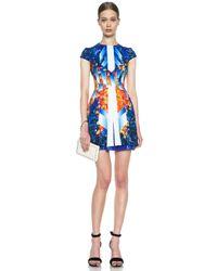 Peter Pilotto - Blue Mira Silk Dress - Lyst