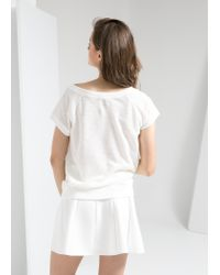 Mango - White Attitude T-Shirt - Lyst