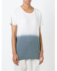 Bliss and Mischief | White Dip Dye T-shirt | Lyst