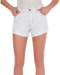 William Rast | Blue Frayed Denim Shorts | Lyst