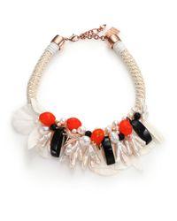Lizzie Fortunato | Pink Under The Sea Pearl & Rope Statement Bib Necklace | Lyst