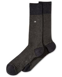Calvin Klein | Gray Checked Crew Socks for Men | Lyst
