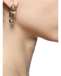 Valentino | Metallic Stud And Strass Earrings | Lyst