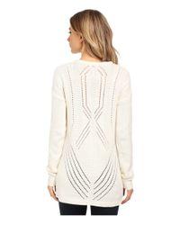 RVCA - White Krystalized Sweater - Lyst