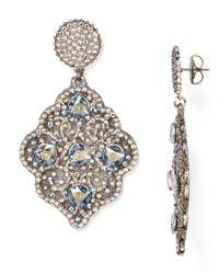Roni Blanshay | Metallic Swarovski Crystal Drop Earrings | Lyst