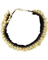 Isabel Marant - Black Seashell Necklace-Colorless - Lyst