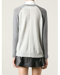 Duffy - Gray V-Neck Sweater - Lyst
