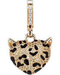 Theo Fennell | Blue 18ct Yellow Gold Leopard Pendant - For Women | Lyst