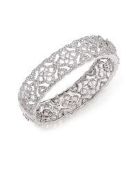Adriana Orsini - Metallic Pavé Crystal Cutout Bangle Bracelet - Lyst