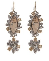 Alexis Bittar - Metallic Asymmetrical Jasper Crystal Drop Earrings - Lyst