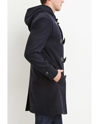 Forever 21 | Blue Toggle-front Hooded Coat for Men | Lyst