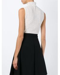 Alexander McQueen - White Lace Jacquard Top - Lyst