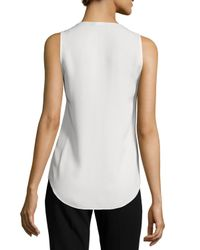 Theory | White Meighlan Classic Silk Top | Lyst