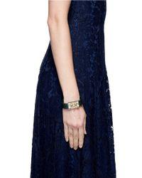 Valentino - Blue 'rockstud' Twist Lock Snake Skin Bracelet - Lyst