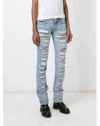 Philipp Plein | Blue 'obsessed' Ripped Jeans | Lyst