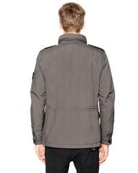 Stone Island - Green Padded Coated David Tc Field Jacket for Men - Lyst