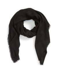 Burberry | Black Cashmere Scarf | Lyst