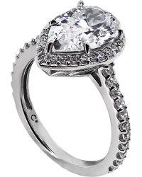 Carat* - Metallic Pear 3ct Borderset Ring - Lyst