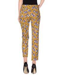 Miu Miu | Yellow Casual Trouser | Lyst