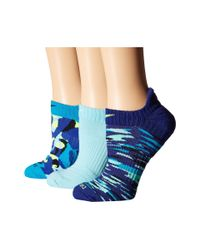 Nike - Blue Dri-fit Graphic No Show 3-pair Pack - Lyst