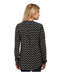 Velvet By Graham & Spencer - Black Adal Long Sleeve Peasant Shirt - Lyst