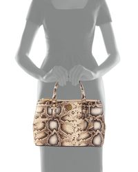 Tory Burch - Multicolor Robinson Mini Snake-embossed Double-zip Tote Bag - Lyst