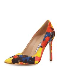 Manolo Blahnik - Multicolor BB Abstract-Print Pumps - Lyst