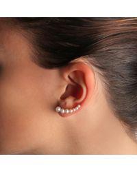 Anita Ko - Metallic Floating Pearl Earring - Lyst