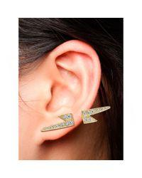 Anita Ko - Metallic Single Lightning Earring - Lyst